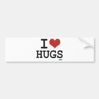 Amo abrazos pegatina para coche