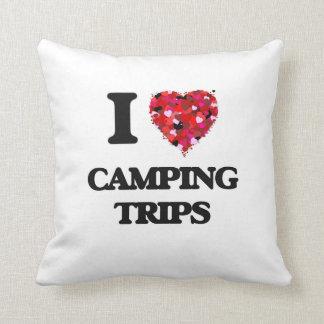 Amo acampadas cojín