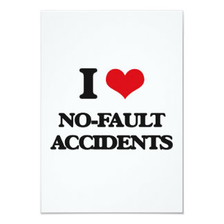 Amo accidentes sin faltas invitación 8,9 x 12,7 cm