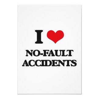 Amo accidentes sin faltas invitación 12,7 x 17,8 cm