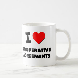 Amo acuerdos cooperativos taza