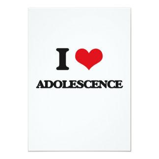 Amo adolescencia invitación 12,7 x 17,8 cm