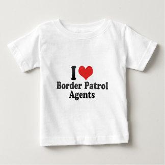Amo agentes de la patrulla fronteriza camiseta de bebé