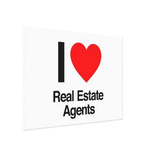 amo agentes inmobiliarios lienzo