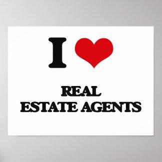 Amo agentes inmobiliarios posters