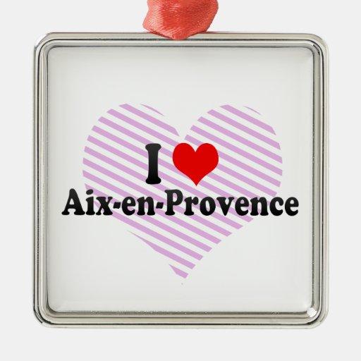 Amo Aix-en-Provence, Francia Ornamento Para Arbol De Navidad