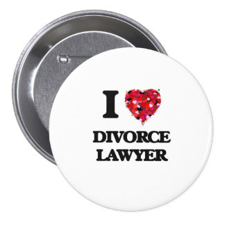 Amo al abogado de divorcio chapa redonda 7 cm