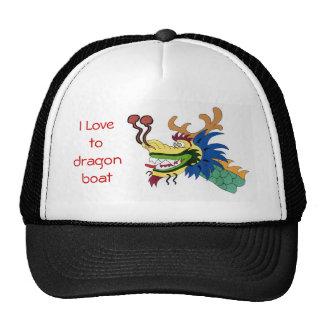 Amo al barco del dragón gorras de camionero