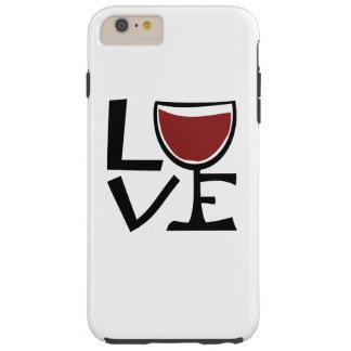 Amo al bebedor del vino rojo funda de iPhone 6 plus tough