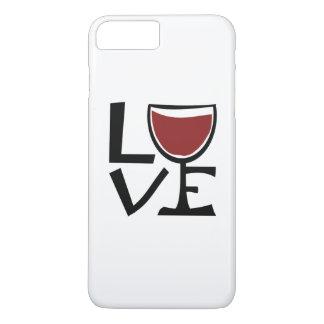 Amo al bebedor del vino rojo funda iPhone 7 plus