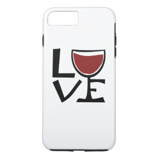 Amo al bebedor del vino rojo funda iPhone 7 plus