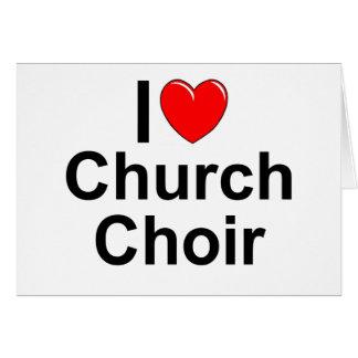 Amo al coro de la iglesia (del corazón) tarjeton