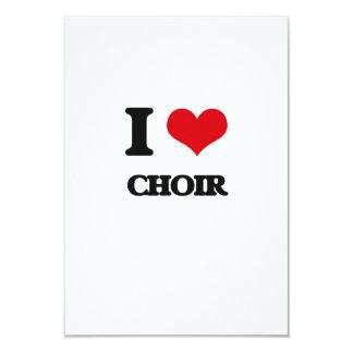 Amo al coro invitación 8,9 x 12,7 cm