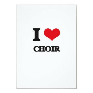 Amo al coro invitación 12,7 x 17,8 cm