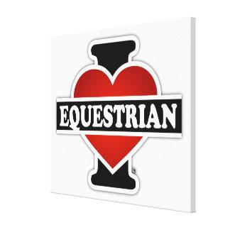 Amo al Equestrian Lona Envuelta Para Galerías
