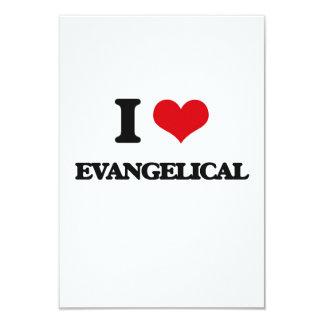 Amo al EVANGELICAL Invitación 8,9 X 12,7 Cm