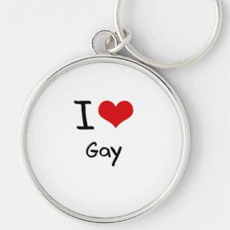 Amo al gay llaveros