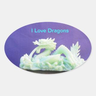 Amo al pegatina de los dragones