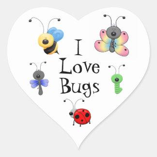 Amo al pegatina de los insectos