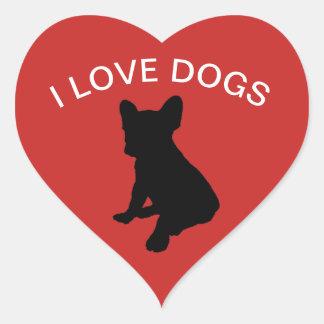 Amo al pegatina de los perros