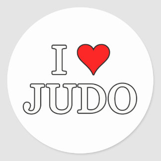 Amo al pegatina del judo