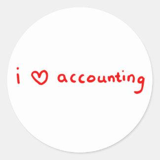 Amo al pegatina que considera para el contable
