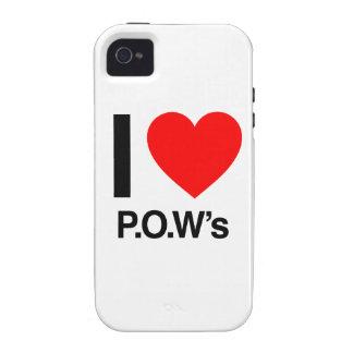 amo al prisionero de guerra iPhone 4 carcasa