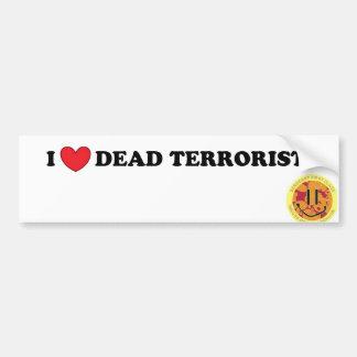 Amo al terrorista muerto pegatina para coche