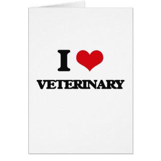 Amo al veterinario tarjeta de felicitación