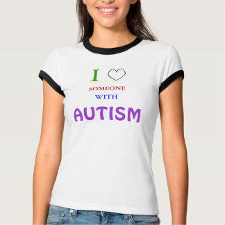 Amo ALGUIEN CON AUTISMO Camiseta