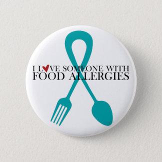 Amo alguien con el botón redondo de las alergias