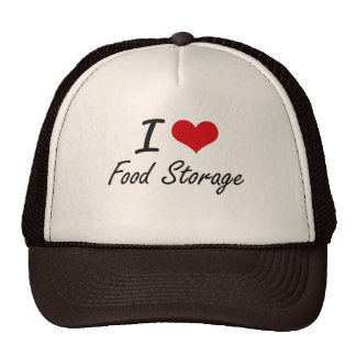 Amo almacenamiento de la comida gorras de camionero