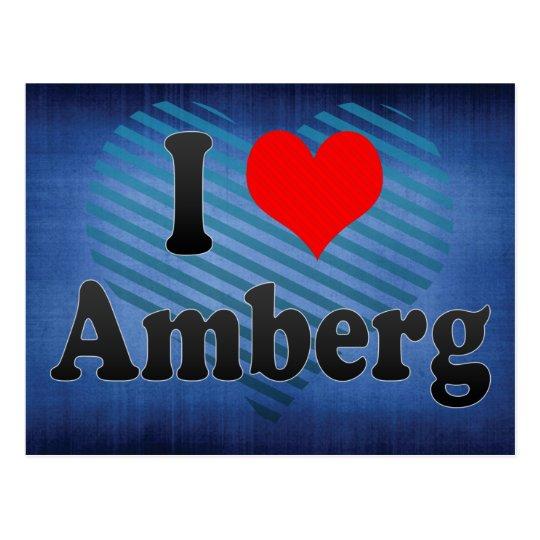 Amo Amberg, Alemania. Ich Liebe Amberg, Alemania Postal