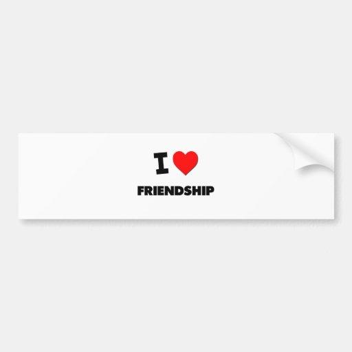 Amo amistad etiqueta de parachoque