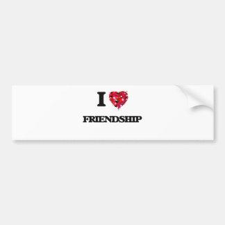 Amo amistad pegatina para coche