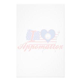 Amo Appomattox, Virginia Papelería De Diseño
