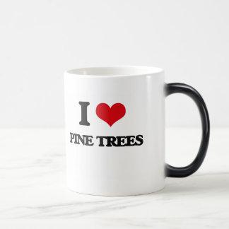 Amo árboles de pino taza mágica