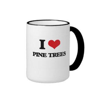 Amo árboles de pino taza a dos colores