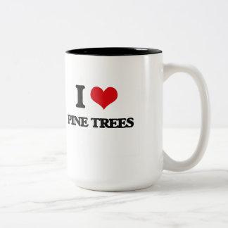 Amo árboles de pino taza dos tonos