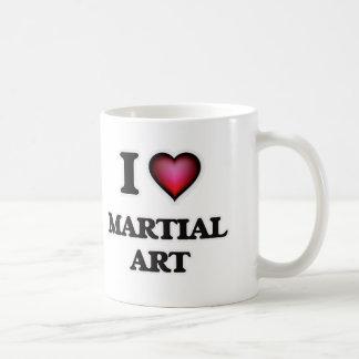 Amo arte marcial taza de café