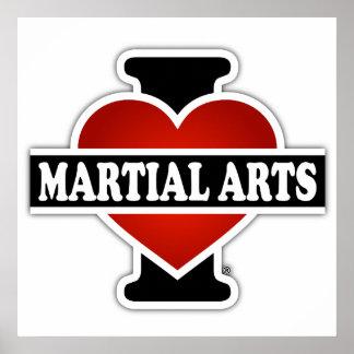 Amo artes marciales póster