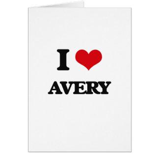 Amo Avery Tarjeta De Felicitación