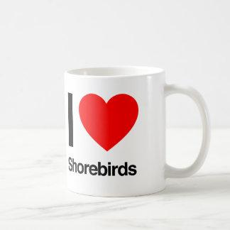 amo aves costeras taza de café