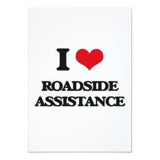 Amo ayuda del borde de la carretera invitación 12,7 x 17,8 cm