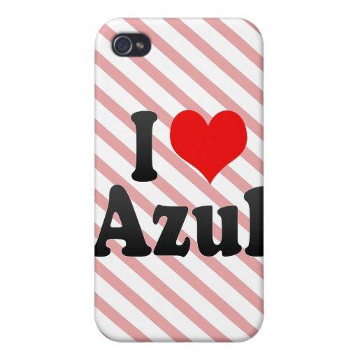 Amo Azul iPhone 4 Cárcasa