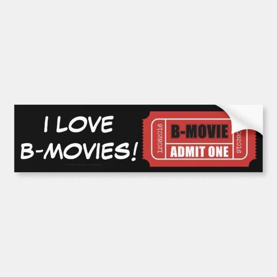¡Amo B-Películas! Pegatina Para Coche