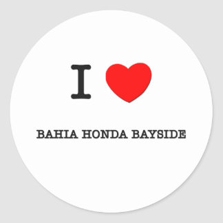Amo BAHÍA HONDA BAYSIDE la Florida Pegatinas Redondas
