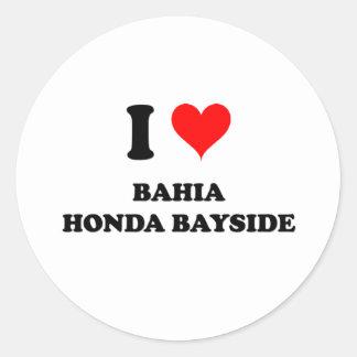 Amo Bahía Honda Bayside Etiquetas Redondas