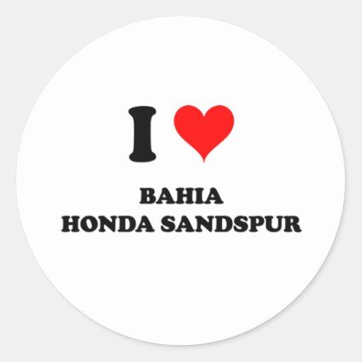 Amo Bahía Honda Sandspur Pegatina Redonda