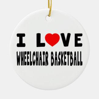 Amo baloncesto de silla de ruedas ornato
